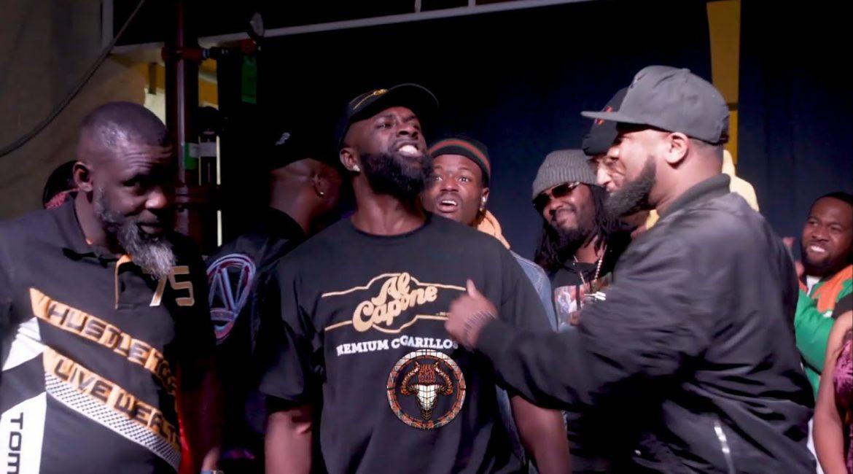 MOON vs SUPERBLACK (crazy rap battle) hosted by John John Da Don   BULLPEN BATTLE LEAGUE