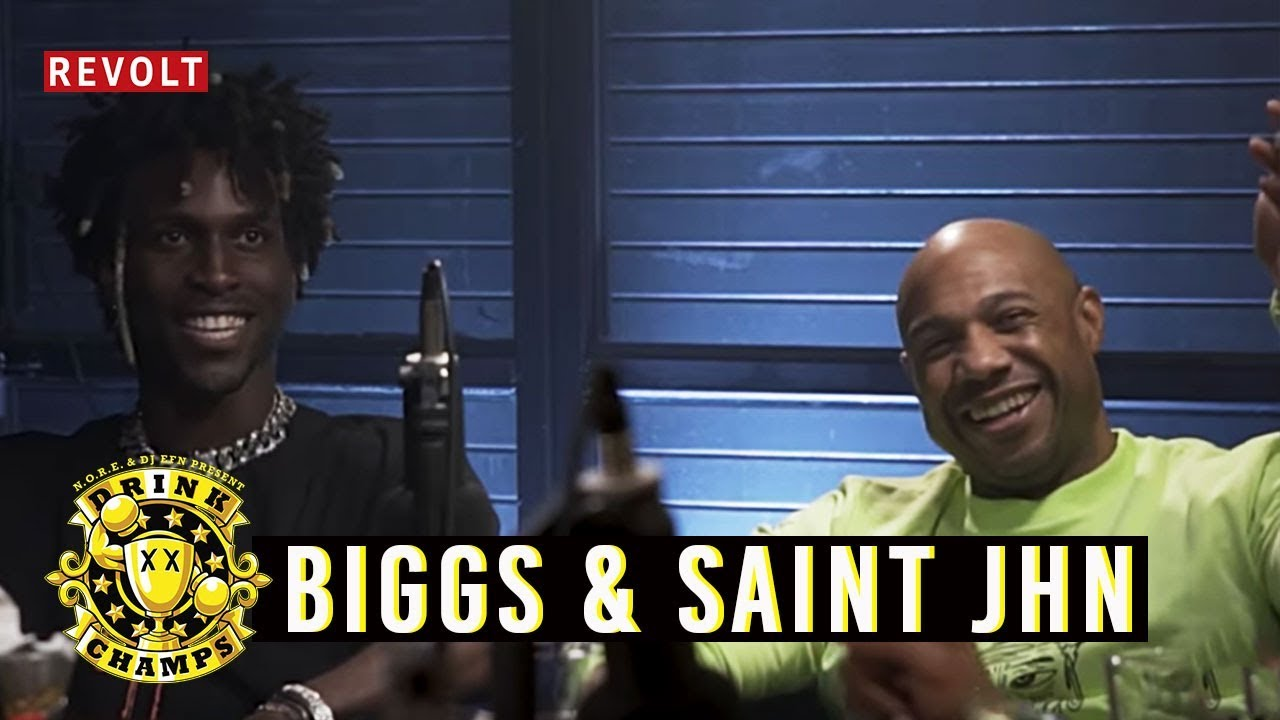 "Kareem ""Biggs"" Burke & SAINt JHN | Drink Champs (Full Episode)"